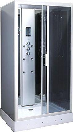 Box de douche balnéo Cyclamen 110 x 90 cm rectangulaire de lumière intérieure cabine de douche full option Modèle Luxe italia radio Garantie 2 ans