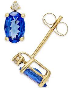 75960836a Birthstone & Diamond (1/8 ct. t.w.) Halo Stud Earrings in 14k Gold - Red |  Products | Diamond earrings, Earrings, Stud earrings