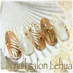 ☺ Uñas Color Cafe, Bohemian Nails, Kawaii Nail Art, Sea Nails, Chic Nails, Japanese Nail Art, Nail Patterns, Autumn Nails, Nail Art Tools