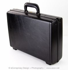 SAMSONITE QUANTUM EXECUTIVE Hard Black Business Attache Briefcase Luggage VGC #Samsonite #BriefcaseAttache