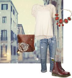 """""""Red cherry doc martens 1"""" by tenatsiao on Polyvore"""