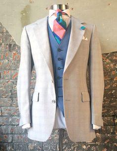@TheCarrawayConcept - faint plaid suit