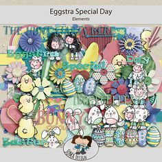 Oscraps.com :: Shop by Category :: All New :: SoMa Design: Eggstra Special Day - Kit