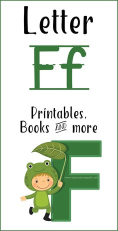 Letter F Printables, Books, Early Learning, Kids Learning, Letter F, Preschool At Home, Learning Letters, Tot School, Math Skills, Teaching Tips, Used Books