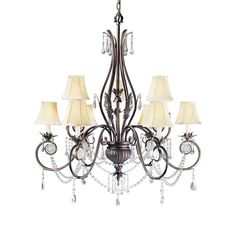 ** Dining Room?? ** World Imports Berkeley Square Collection 9-Light Bronze Chandelier-WI75362 at The Home Depot