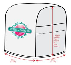 Image of THERMOMIX / OVERLOCKER COVER PDF PATTERN - TM31 & TM5