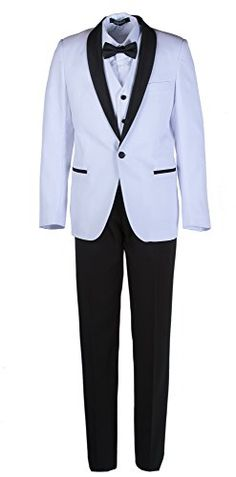 SWOTGdoby Boys Formal Blazer Slim Fit Outfit Chic Pattern for Tuxedo Suit