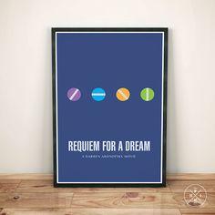 REQUIEM FOR A DREAM Darren Aronofsky Minimalism Movie Print Office Art Motivational Inspirational Gift Decor Quote Poster Custom Size Color
