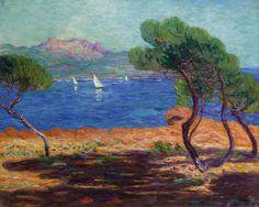 "marquayrol: """"""Landscape At Agay,"" Léon Detroy, Undated. "" """
