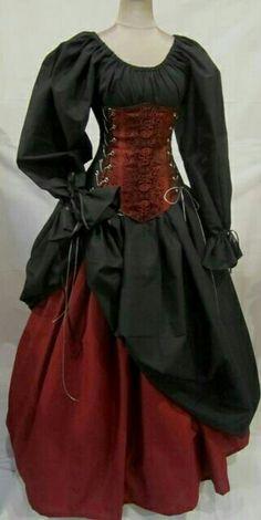 May 2018 - Buccaneer Pirate - renaissance clothing, medieval, costume Renaissance Fair Costume, Medieval Costume, Renaissance Clothing, Medieval Dress, Historical Clothing, Renaissance Pirate, Renaissance Outfits, Costume Venitien, Looks Dark