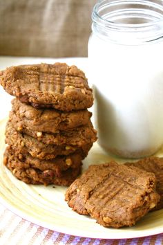 Soft, Chewy, Chunky Peanut Butter Cookies (GF)- Fettle Vegan