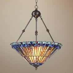 "Tiffany Style 3-Light Ladybug 25"" High Glass Pendant Light   LampsPlus.com.  Just ordered for my dining room!"
