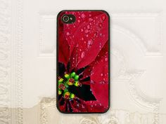 Poinsettia phone case, Christmas cell phone case, iPhone 4 4S 5 5s 5C 6 6+ Plus, Samsung Galaxy s3 s4 s5 s6 H7075