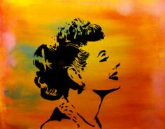Lucille Ball Spray Paint on Canvas by Me.