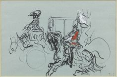 Felids Topolski illustrates Prince Charles and Lady Diana's wedding in mixed media