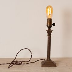 'Henderson' Table Lamp with radio bulb