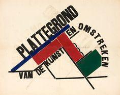 H.N.Werkman, 'Plattegrond van de kunst en omstreken', uit Next Call nr.6, 1924, Groninger Museum