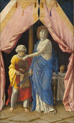 Национальная галерея искусств (Вашингтон). Мантенья, Андреа (или последователь, возможно, Джулио Кампаньола) - Юдифь с головой Олоферна. 1405-1500 гг.