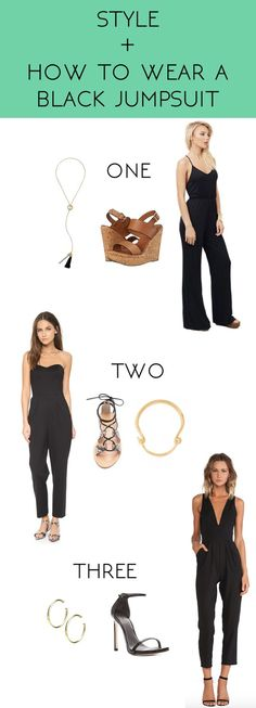 Whimsical Charm: style + how to wear a black jumpsuit
