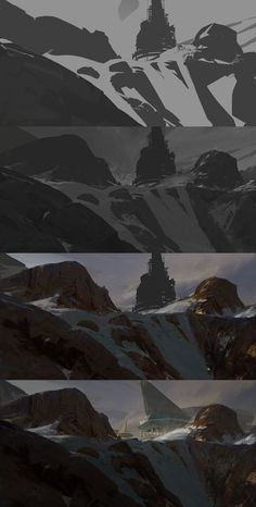 ArtStation - Warm snow + process, Manuel (Du)Pong: