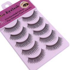 5 pairs form natural thickness long cross fake eyelash eyelashes