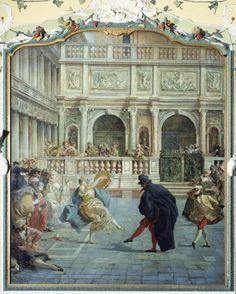 Anonymous, 18th century. Carnival Scene in Venice. Location: Caffe Quadri, Venice, Italy
