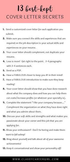 Sample Cover Letter | Cover Letter Tips & Guidelines | Stuff I