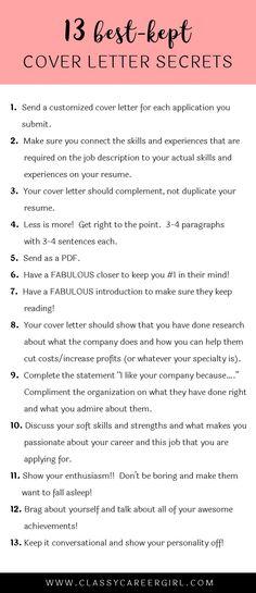 sample cover letter Cover letter tips \ guidelines Stuff I - cover letter in resume