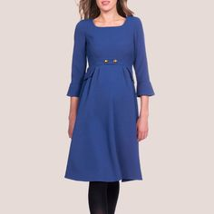 Séraphine 'Valerie' Royal Blue Tailored Maternity Dress