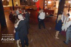 Melanie and Michael's wedding was small and intimate. But the dance floor at Salvage One can expand to accommodate a huge dancing crowd.