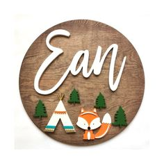 Personalized Round Wood Name Signs & More por MySignatureTimber Wood Name Sign, Wood Names, Name Signs, Personalized Wood Signs, Custom Wood Signs, Wooden Signs, Nursery Themes, Nursery Decor, Wood Nursery