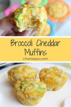 This broccoli cheddar muffin recipe is tasty and packed with all kinds of goodness! And it's SUPER toddler approved by my almost threenager. It's great for a snack, for breakfast or lunch, or to pop into a lunch box, and my whole family loves it. Toddler Muffins, Baby Muffins, Savory Muffins, Easy Toddler Meals, Toddler Snacks, Kids Meals, Toddler Recipes, Recipes For Toddlers, Lunch Ideas For Toddlers