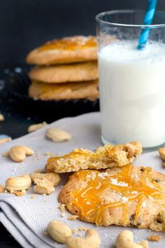 """Cashew Cookies with Salted Caramel 