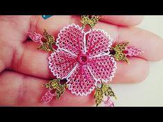 Needle Tatting, Needle Lace, Beaded Flowers, Crochet Flowers, Tatting Patterns, Crochet Patterns, Plastic Bottle Crafts, Lace Making, Irish Crochet