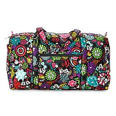 Mickey's Magical Blooms Duffle Bag by Vera Bradley | Disney Store You'll find Mickey and Minnie's colorful personalities are matched by the vibrant floral print on this duffle bag. Featuring Vera Bradley's signature quilted design, this spacious holdall will brighten up any vacation.
