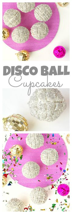 Disco Ball Cupcakes are fun and shiny, perfect for a sparkly party! Add some confetti to the table to give some extra shine.