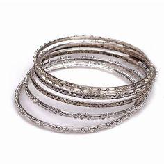 Silver boho bangles #festival #style