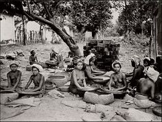 Balinese market scene, date and photographer unknown