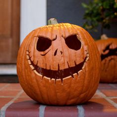 Jack Skellington Pumpkin Carving Template