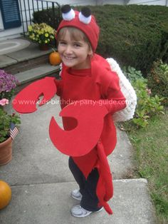 crab costume for Rowen's musical at school
