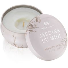 Jardins du Midi Travel Candle | Chloe + Isabel ($28) ❤ liked on Polyvore featuring home, home decor, candles & candleholders, chloe + isabel and floral home decor
