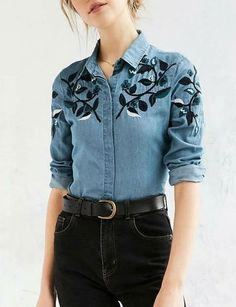 Simple Leaf Embroidery Denim Shirt with Long Sleeve https://www.clothescheap.com/product/simple-leaf-embroidery-denim-shirt-with-long-sleeve-1354920