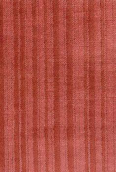 Cadiz Velvet Coral red linen velvet with self coloured stripe