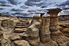 The Mysterious Hoodoos in Drumheller Alberta Canada . took my son and his friend here for a weekend in the The Places Youll Go, Great Places, Places To See, Beautiful Places, Badlands National Park, National Parks, Ottawa, Quebec, Torre Cn