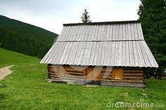 Shepherd hut in the Tatra mountains Poland