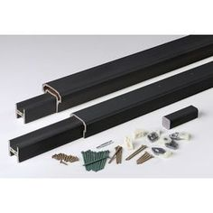 Timbertech Radiancerail Black Composite Deck Railing Kit (Assembled: 8
