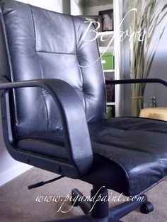Pig and Paint: Inside-Out Office Chair Makeover