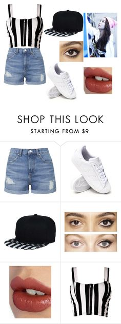 """Akira, the Baby in the Group."" by bella-schroeder ❤ liked on Polyvore featuring Topshop, adidas, Charlotte Tilbury and Boob"