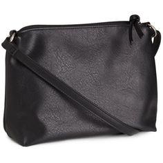 H&M Small shoulder bag (219.240 IDR) ❤ liked on Polyvore featuring bags, handbags, shoulder bags, black, black purse, zipper purse, black handbags, black shoulder bag and h&m handbags