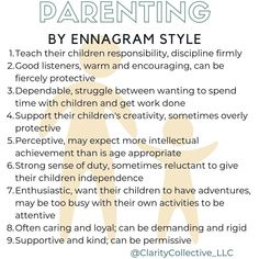 Parenting is a big job. Understanding our Enneagram style can help us lean into our strengths and recognize our challenges. #enneagram…